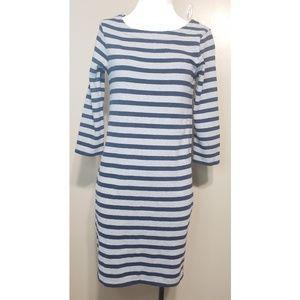 Gap Gray/Navy Stripe Dress